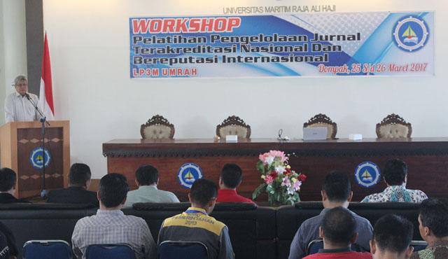 Wokshop Pelatihan dan Pengelolaan Jurnal Terakreditas Nasional dan Bereputasi Internasional