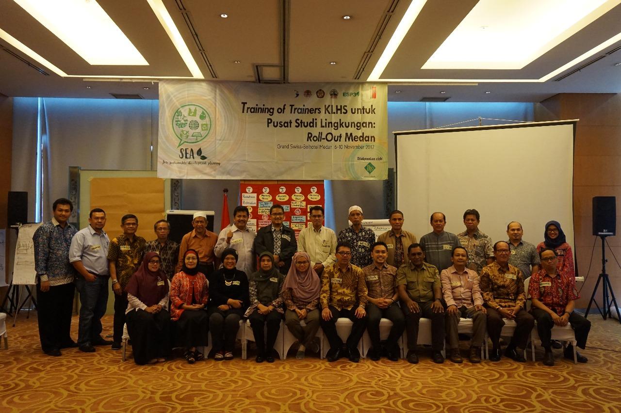 Training Of Trainers KLHS untuk Pusat Studi Lingkungan Roll Out Medan